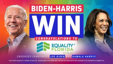 Historic Joe Biden Kamala Harris Win 2020 Presidential Election Equality Florida