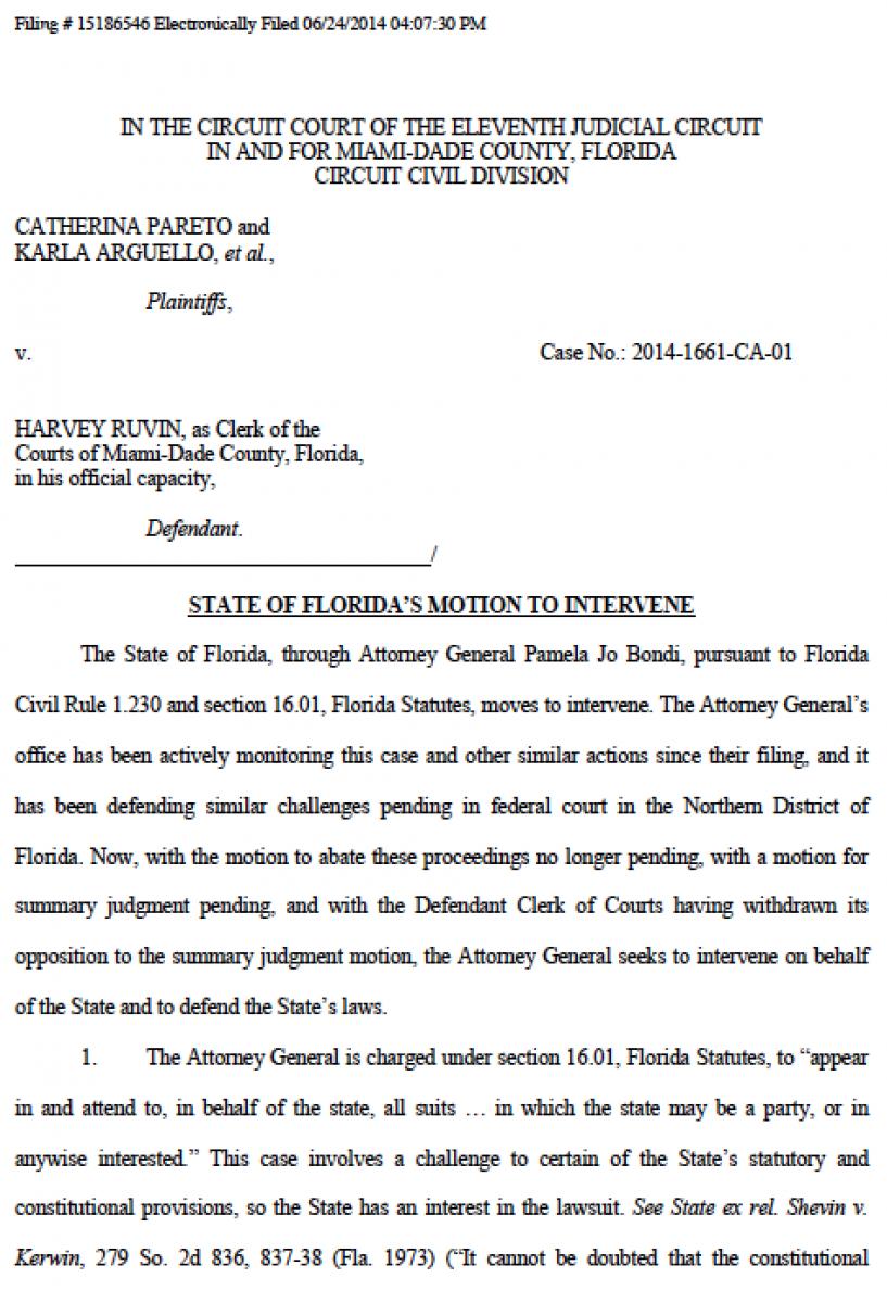 Breaking Florida Attorney General Pam Bondi Files Motion To